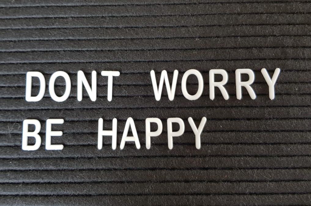 Maak je niet druk, geniet!!